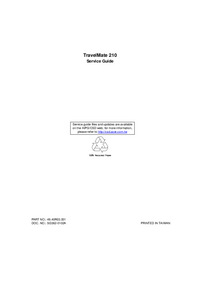 Service Manual Acer TravelMate 210