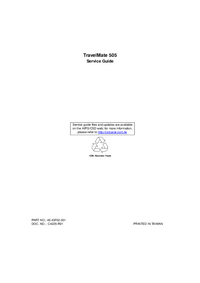 Service Manual Acer TravelMate 505