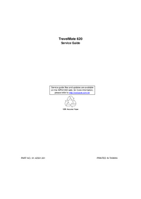 Service Manual Acer TravelMate 620