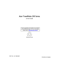 Service Manual Acer TravelMate 290 Series