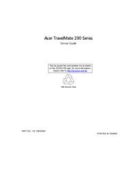 Manuale di servizio Acer TravelMate 290 Series