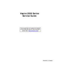 manuel de réparation Acer Aspire 2930 Series