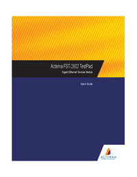 User Manual Acterna FST-2802