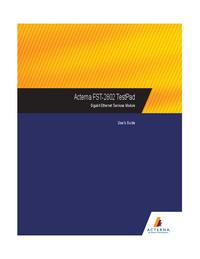 Gebruikershandleiding Acterna FST-2802