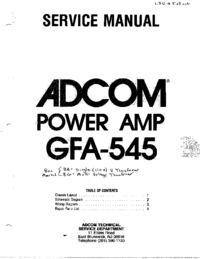 manuel de réparation Adcom GFA-545