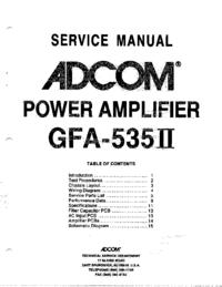Manual de servicio Adcom GFA-535II