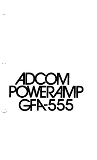 User Manual Adcom GFA-555