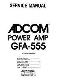 Serviceanleitung Adcom GFA-555