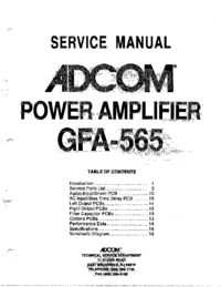 Service Manual Adcom GFA-565