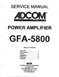 Servicehandboek Adcom GFA-5800
