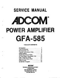 Instrukcja serwisowa Adcom GFA-585