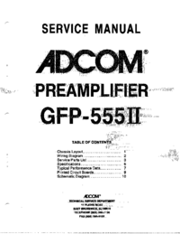 Service Manual Adcom GFP-555II