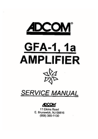 Service Manual Adcom GFA-1a