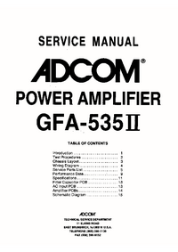 Service Manual Adcom GFA-535 II
