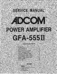 Service Manual Adcom GFA-555 II