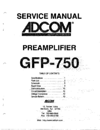 Servicehandboek Adcom GFP-750