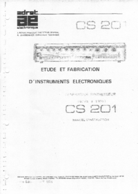 Service and User Manual Adret CS 201
