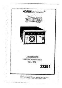 Servizio e manuale utente Adret 2230A