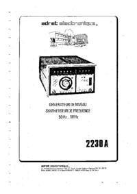 Serwis i User Manual Adret 2230A