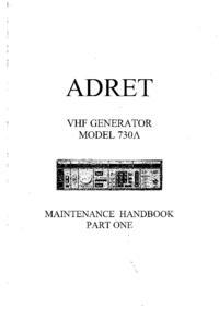 Manual de servicio Adret 730A