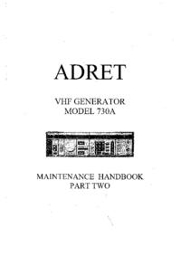 Service Manual Adret 730A