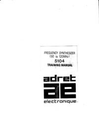 Servicio y Manual del usuario Adret 5104