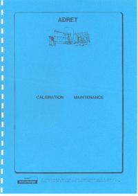 Manual de servicio Adret 3100B