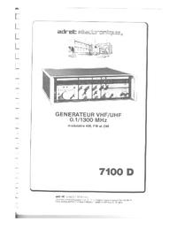 Manuale d'uso Adret 7100D