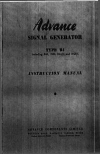 Serviço e Manual do Usuário Advance B4C