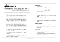 Service and User Manual Advance J1/E
