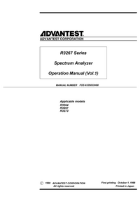 User Manual Advantest R3267