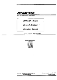 User Manual Advantest R3765CH