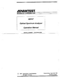 Instrukcja obsługi Advantest Q8347