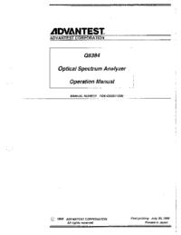 Manuel de l'utilisateur Advantest Q8384