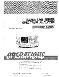 Manual del usuario Advantest R3261