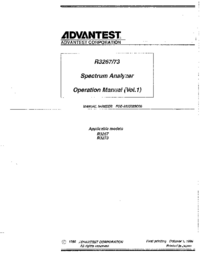Manual del usuario Advantest R3267