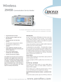 Datenblatt Aeroflex 2945B