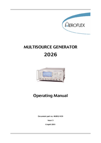 User Manual Aeroflex 2026