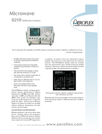 Scheda tecnica Aeroflex 6210