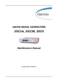 Serviceanleitung Aeroflex 2023A