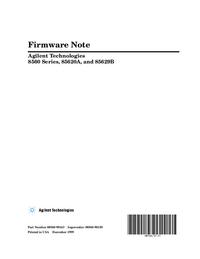 User Manual Agilent 8560 Series