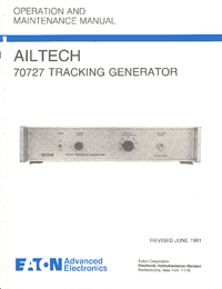 Servicio y Manual del usuario Ailtech 70727