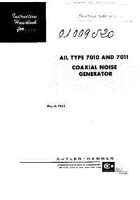 Service and User Manual AirborneInstruments 7010