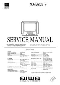Руководство по техническому обслуживанию Aiwa VX-S205 U