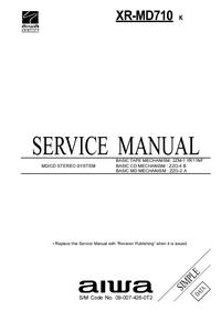 manuel de réparation Aiwa XR-MD710 K