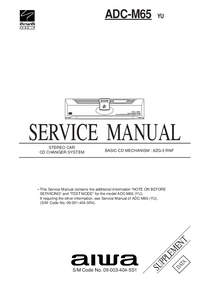 Service Manual Supplement Aiwa ADC-M65 YU