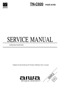 Manual de servicio Aiwa TN-C920 AHJ(B)