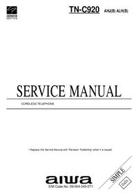Руководство по техническому обслуживанию Aiwa TN-C920 AHJ(B)