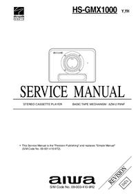 Service Manual Aiwa HS-GMX1000 Y