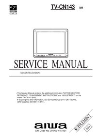 Manuale di servizio Supplemento Aiwa TV-CN143 NH
